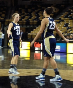 Hannah Plybon (left) earned as spot on the All-MAC Freshman Team a year ago.