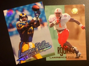 Lawrence Phillips with the St. Louis Rams and University of Nebraska Cornhuskers
