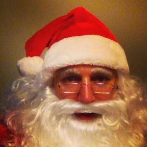 Santa selfie doctored by Instagram filters in December 2014.